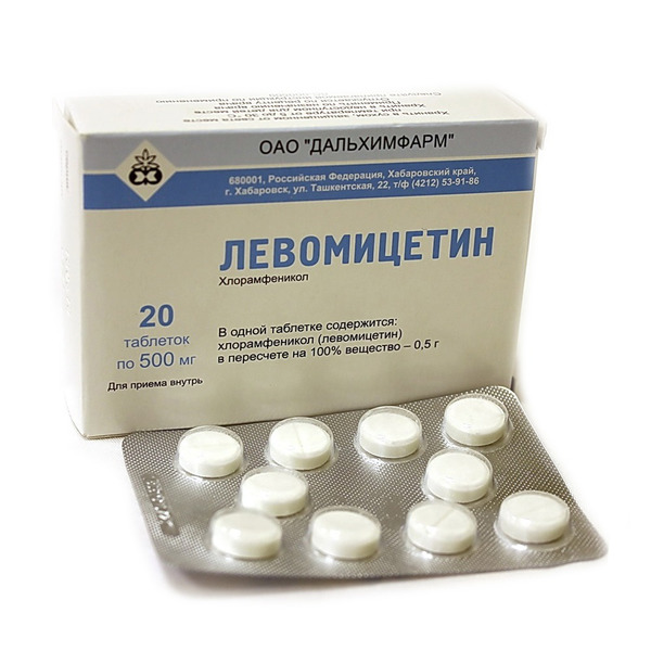 Левомицетин: показания, инструкция по применению